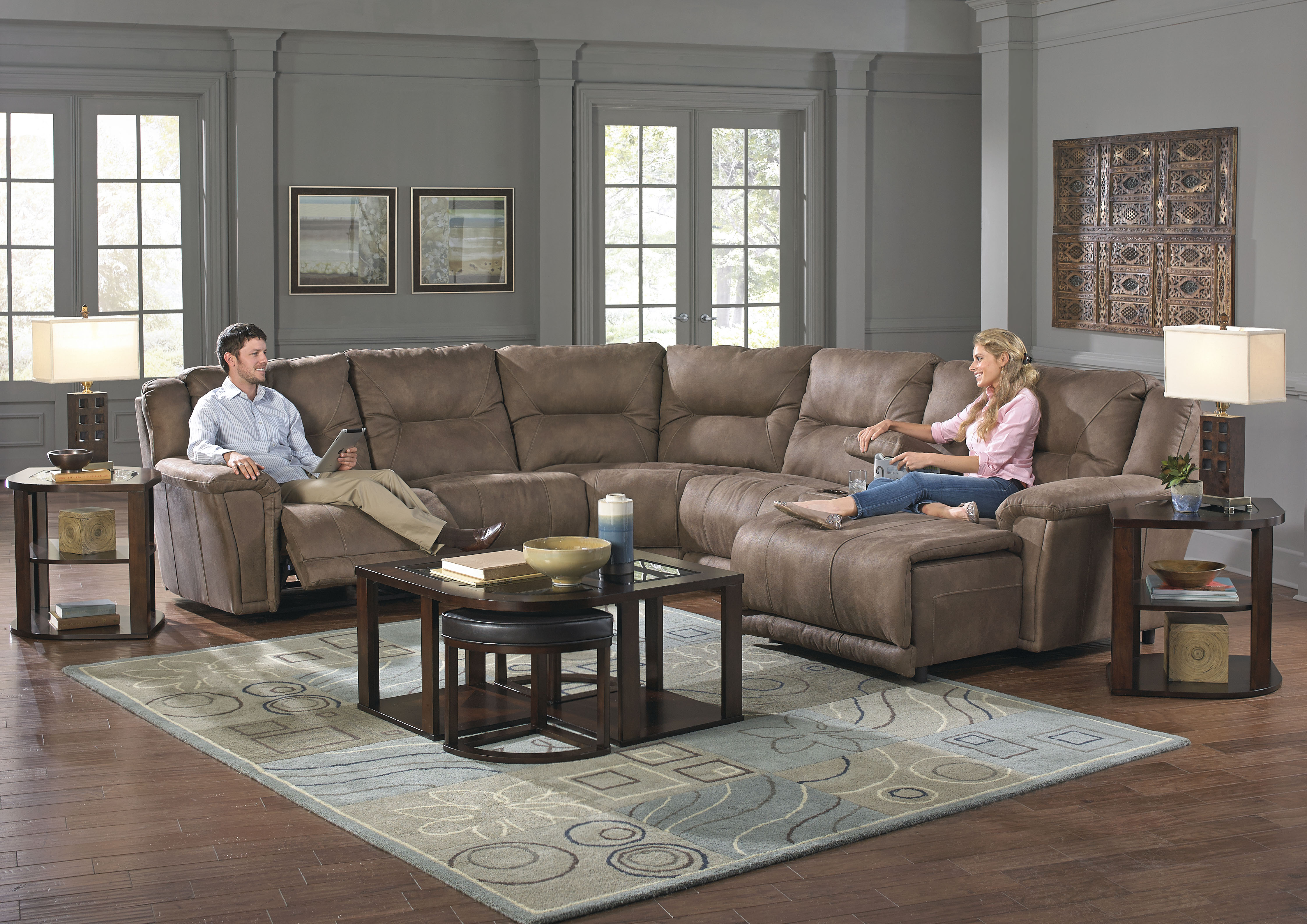 Montgomery Sectional in Timber · Montgomery Sectional in Cement : catnapper sectional sofa - Sectionals, Sofas & Couches