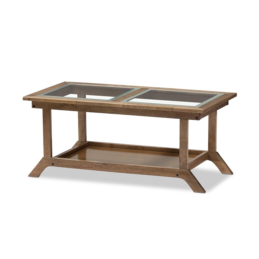 baxton studio cayla wooden coffee table