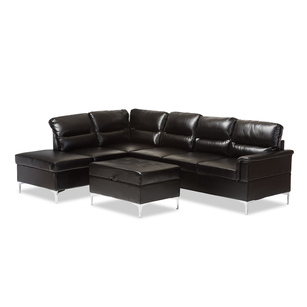 Baxton Studio Kinsley Black Faux Leather Upholstered 3  : 17314 from comfortfirst.com size 1000 x 1000 jpeg 153kB