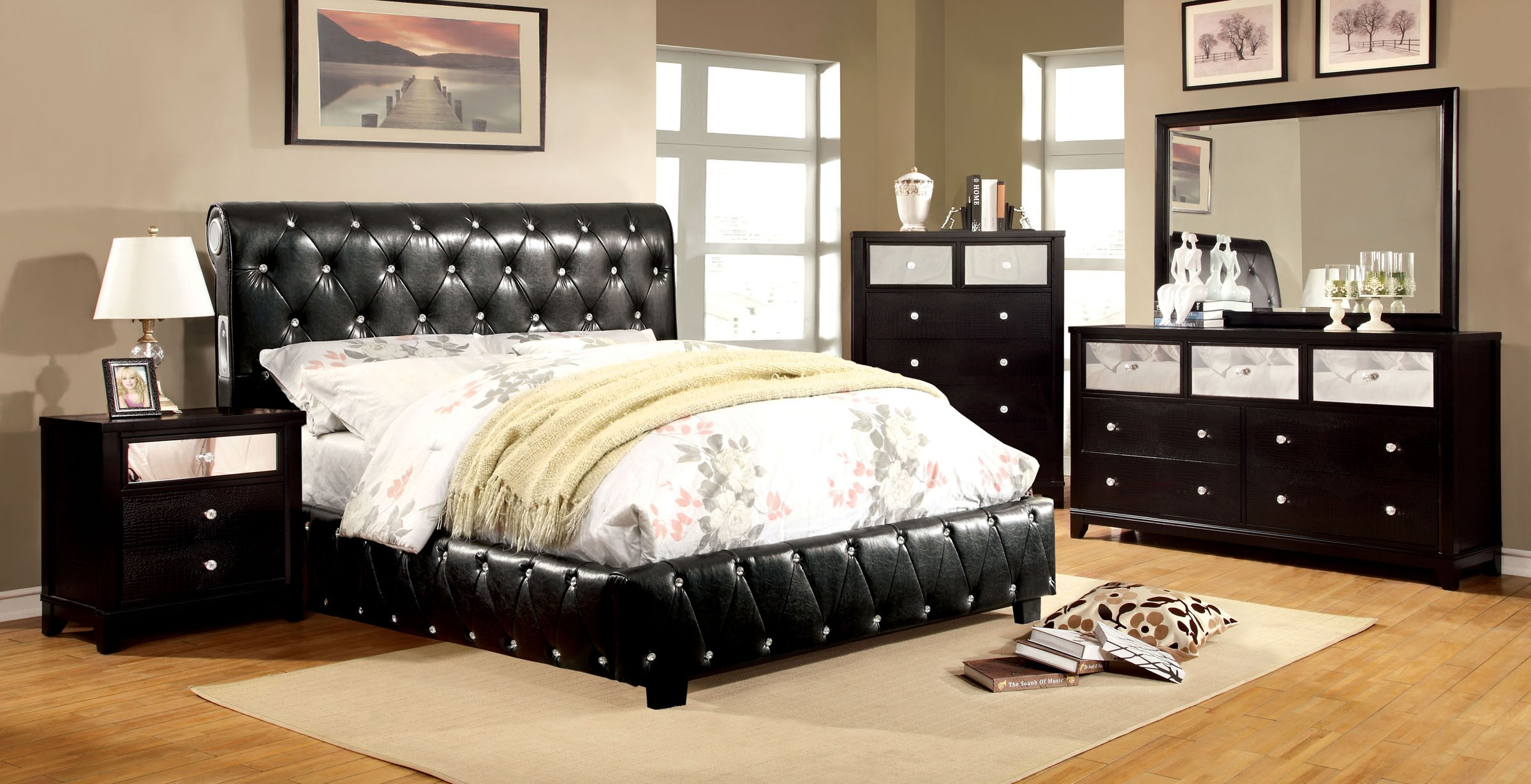 Bedroom sets clearance cool black modern bedroom for Furniture of america near me