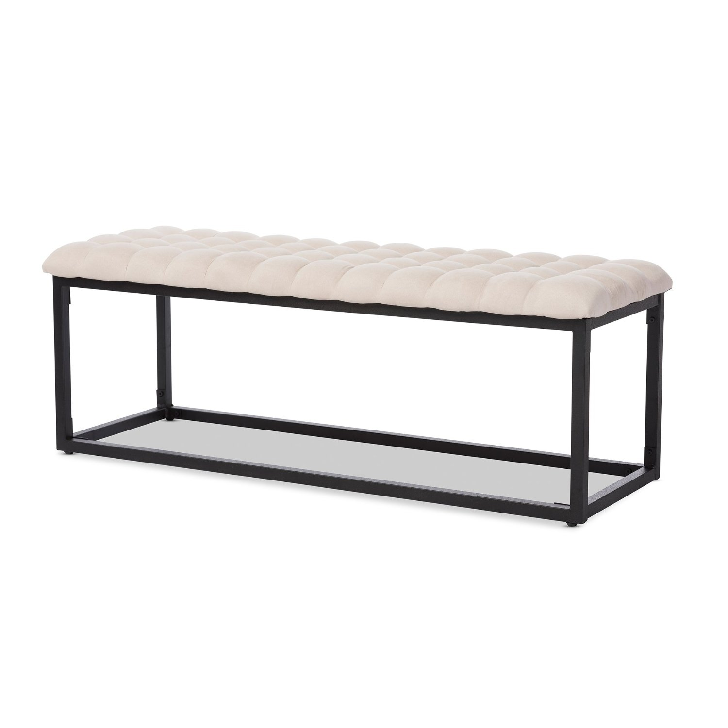 Baxton Studio Zephyr Tufted Coffee Table Ottoman Bench