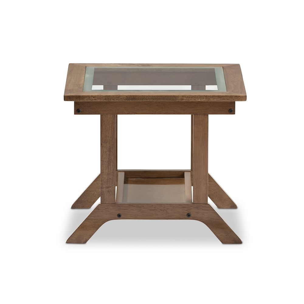 baxton studio cayla wooden end table