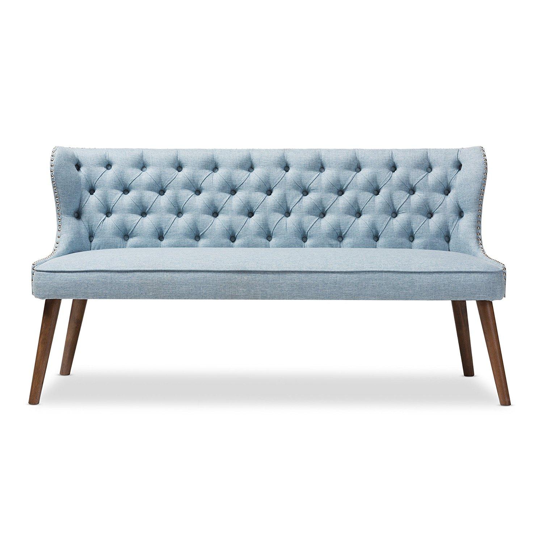 Baxton Studio Scarlett Tufted 3 Seater Sofa
