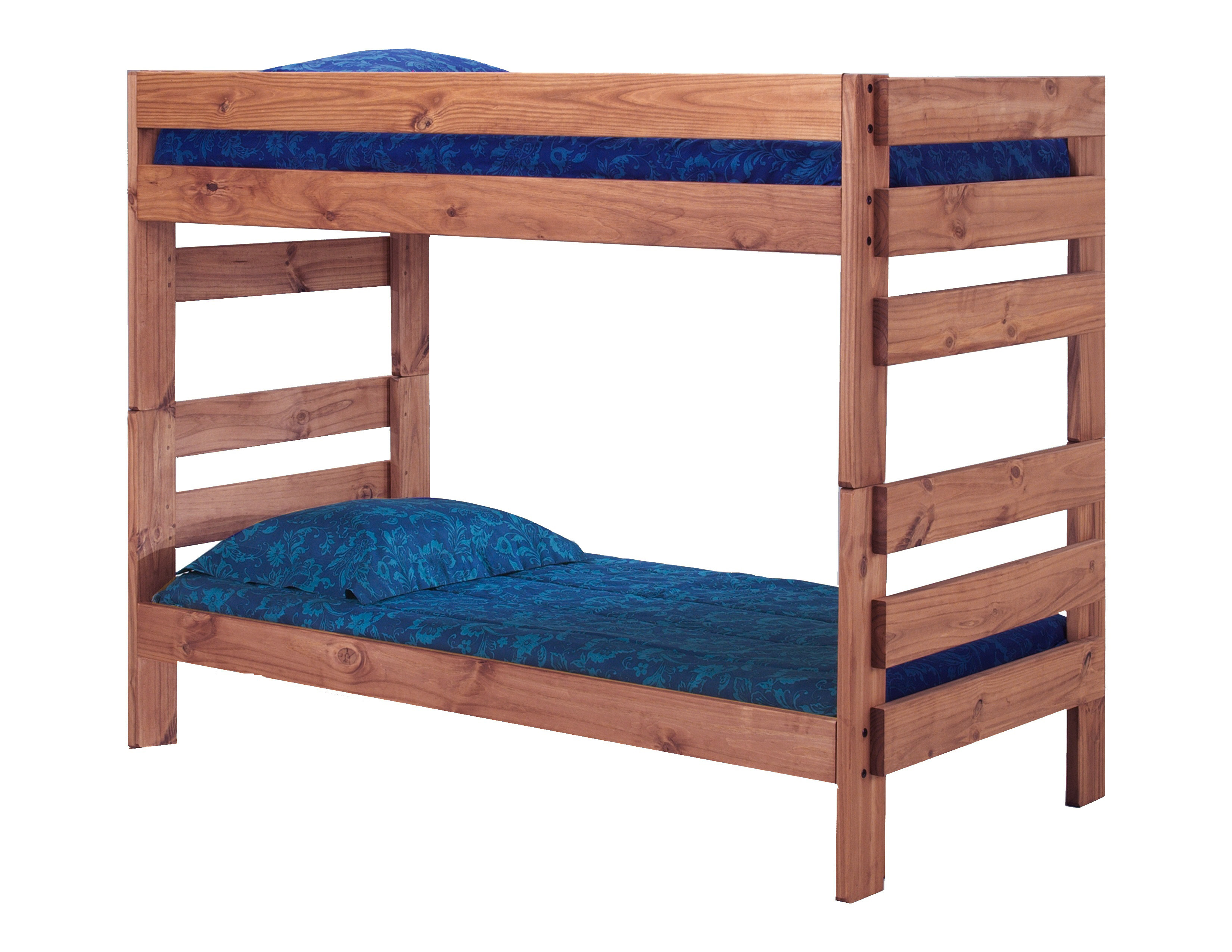 Chelsea Twin Over Twin Stackable Bunk Bed Solid Pine