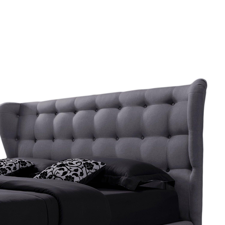 Baxton Studio Bellissimo Button Tufted Platform Bed