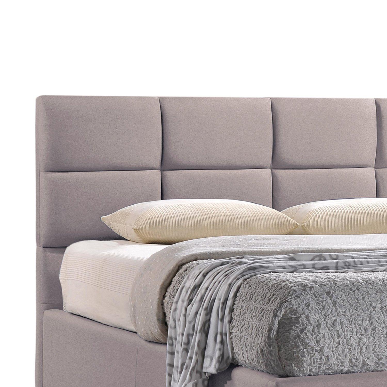 fabric platform bed