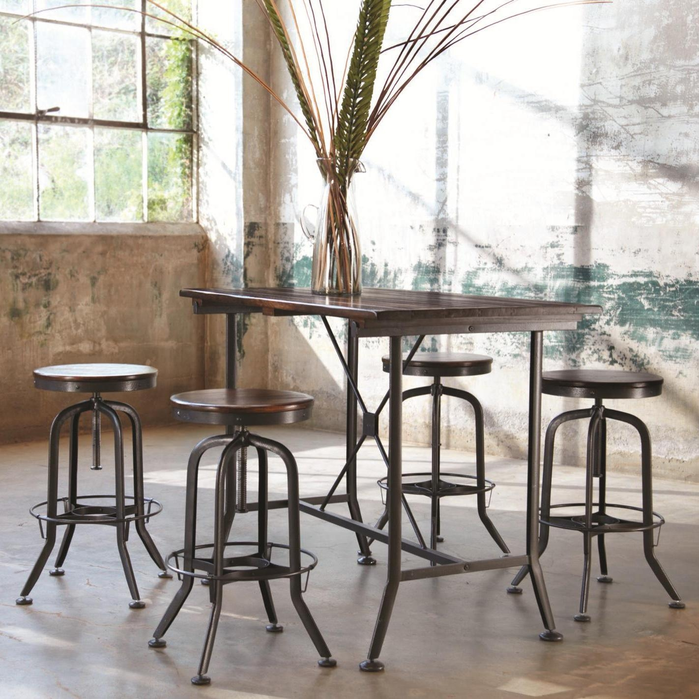 Hashleich Vintage Bar Stool Industrial Strength With