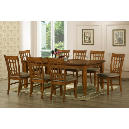 Baxton Studios Megan 7 Piece Dining Room Set (Table and 6 Chairs)