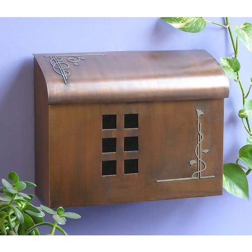 Ecco E7 Wall Mounted Brass Mailbox