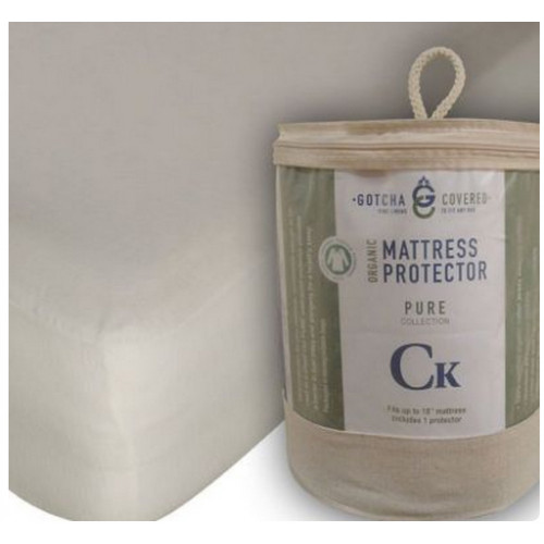 Gotcha Covered SPLIT-HEAD CAL KING Size PURE Organic Waterproof Mattress Protector - MPSHCK/ORG