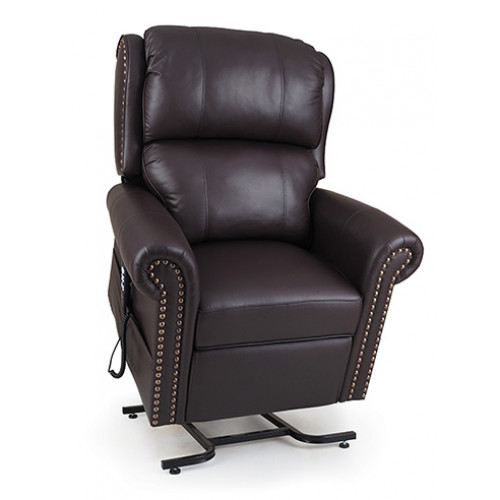 UltraComfort Power Lift Chair Recliner, Nail-Head Pub Chair Design UC792