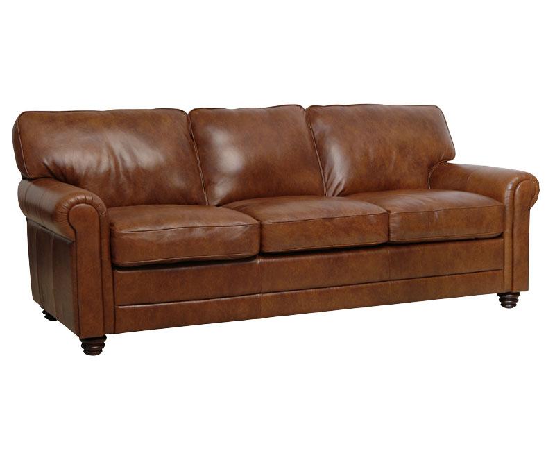 Italian Leather Sofa Tab Modern