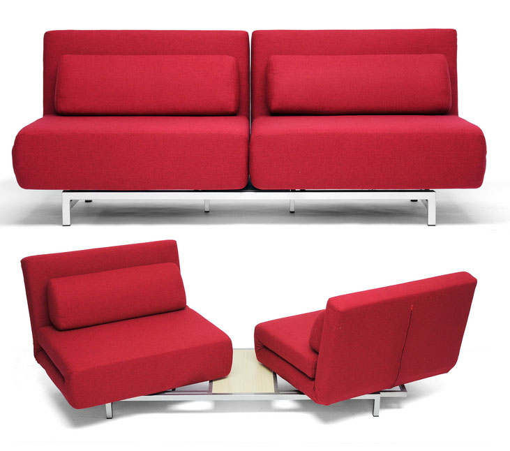 2 Seat Convertible Sofa Chair Set LK06 2 D 06