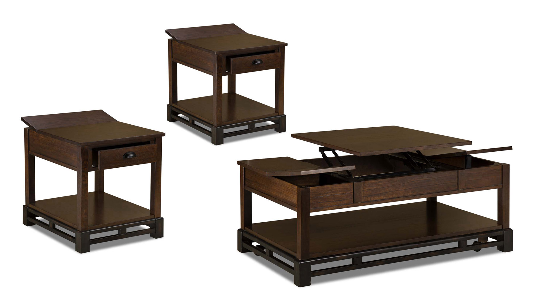 Catnapper Lift Top Storage Coffee Table and 2 End Tables 870-049/055x2 ...