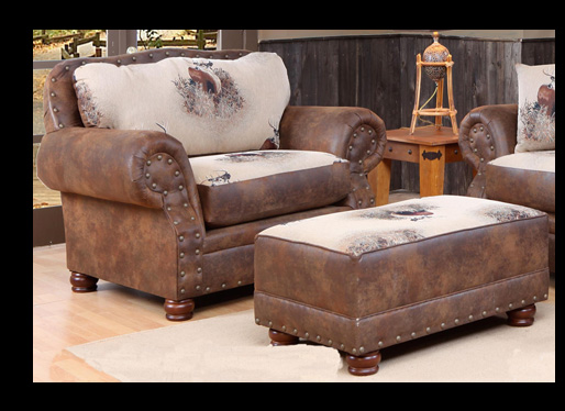Cowboy collection big buck sofa trophy fabric 4069 s Cowboy sofa