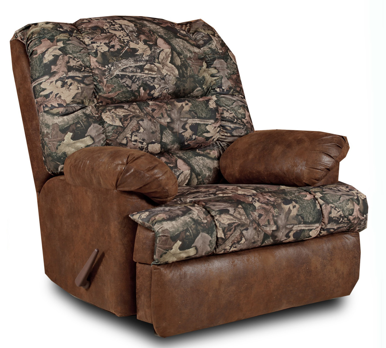 Big Mans Large Camo Recliner - Camo and Tobacco Fabric ...