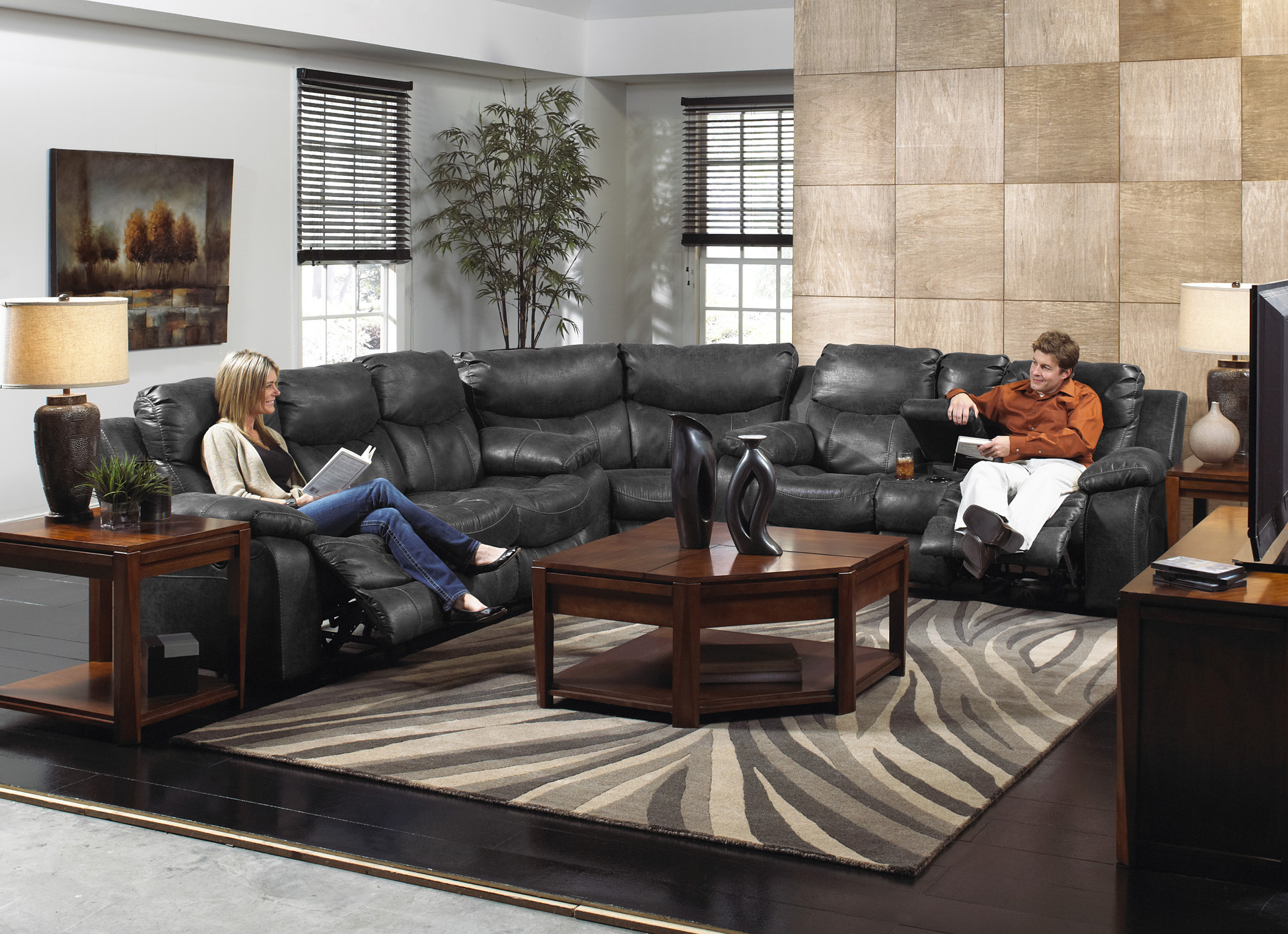 catnapper catalina reclining leather sectional sofa set 3pc