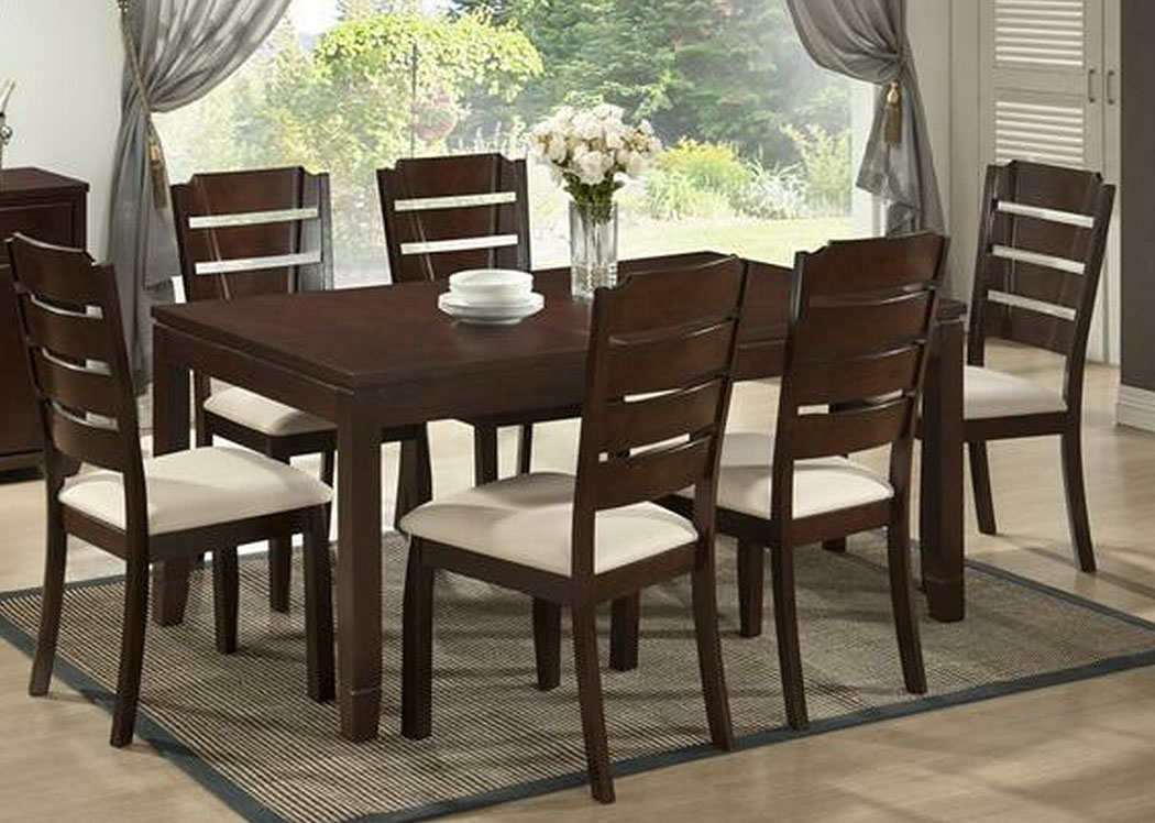 home baxton studio victoria modern 7 pc dining room set with table and