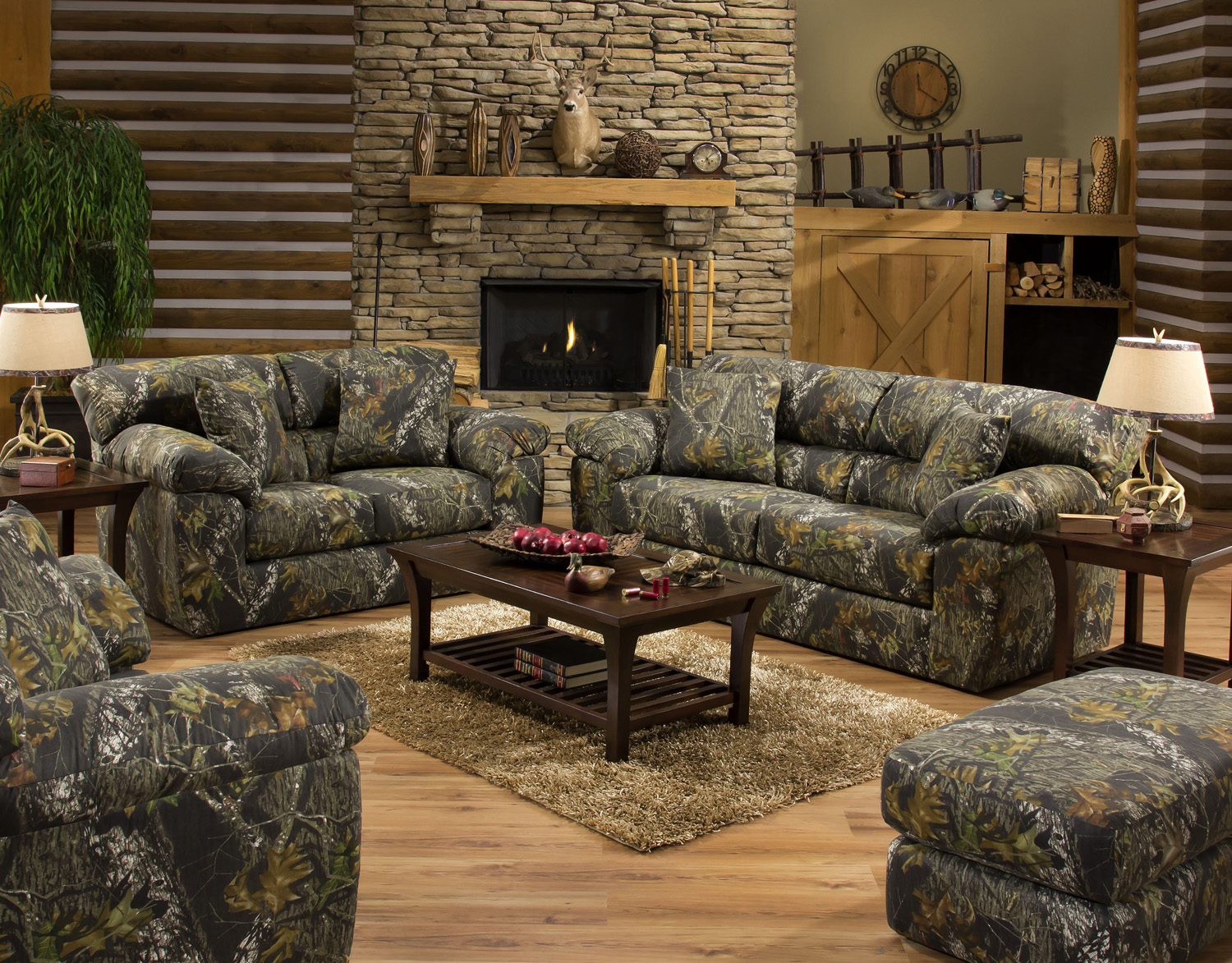 Jackson Furniture Big Game Mossy Oak Camo Sofa And Loveseat Set 3206 |  Sofas U0026 Sectionals