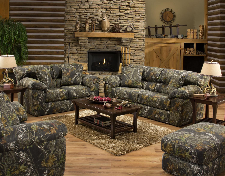 Jackson Furniture Big Game Mossy Oak Camo Sofa and Loveseat Set ...