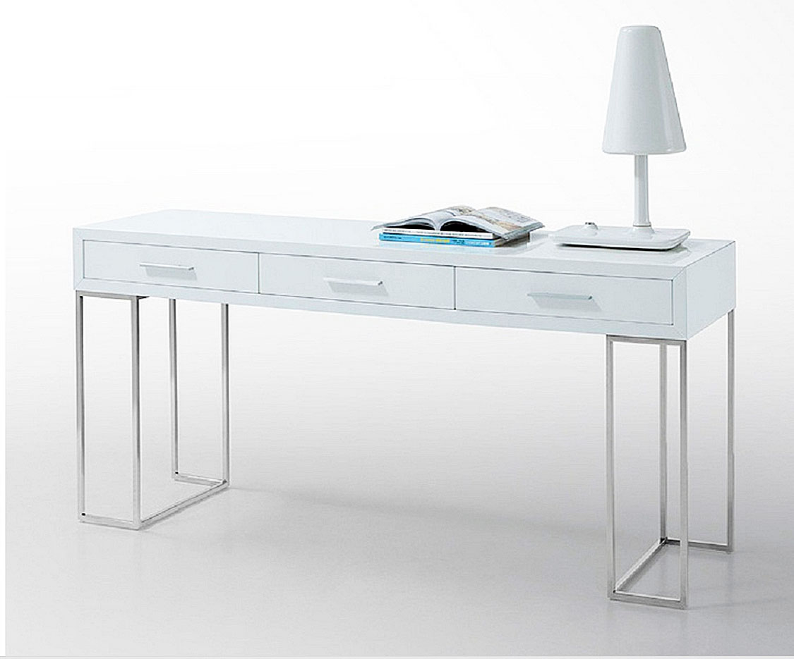 modern white office desk with 3 drawers sg02 tables consoles