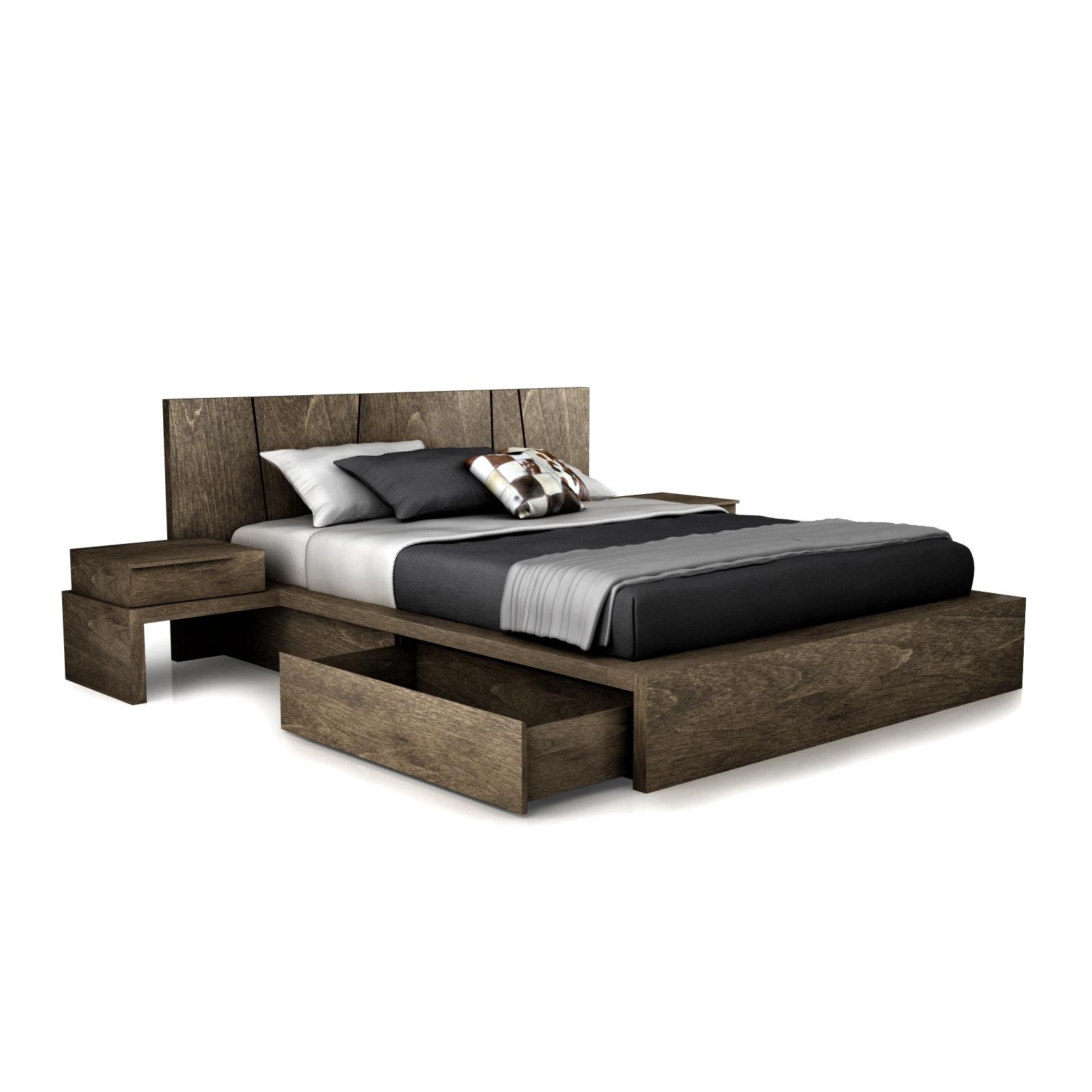 Huppe Silk Modern Wood Bed