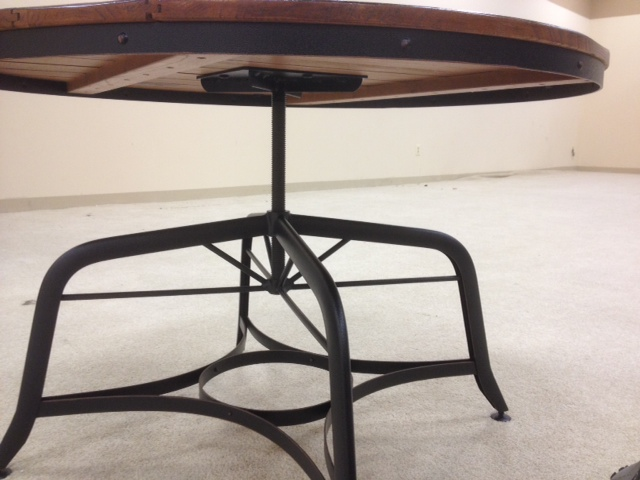 vintage industrial strength coffee table with adjustable
