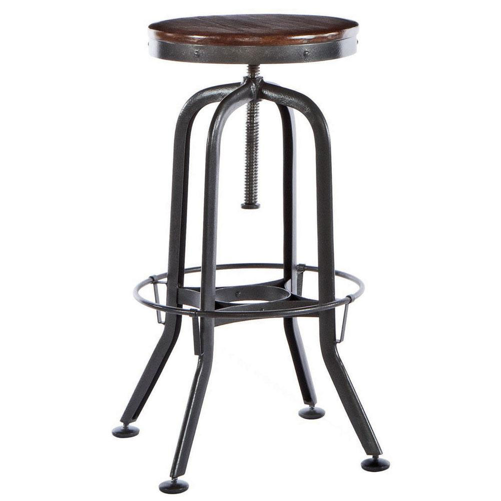Hashleich Vintage Bar Stool Industrial Strength with Adjustable ...