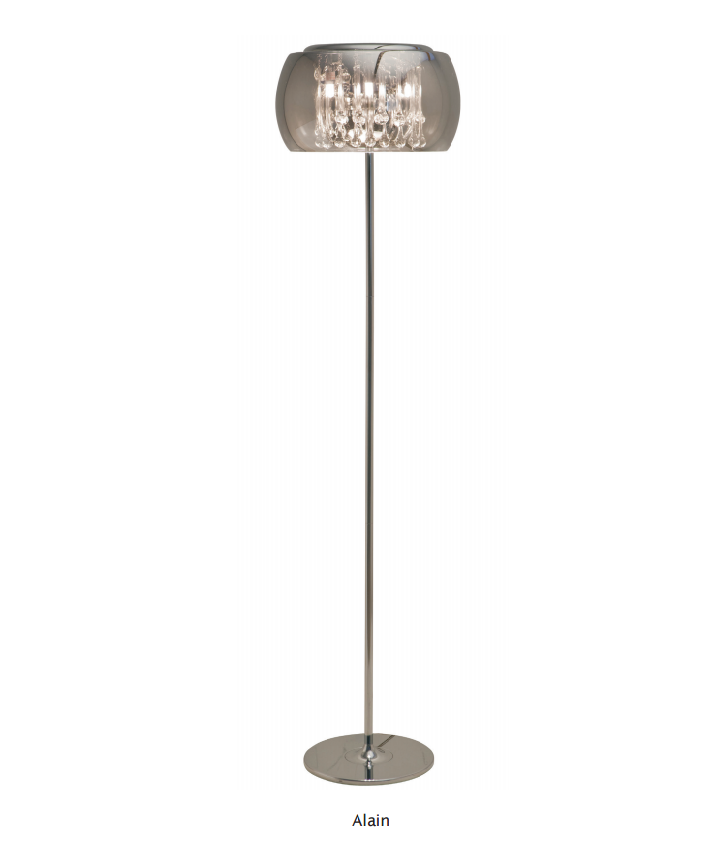 Nuevo Living Alain Chrome Floor Lamp HGHO122 Floor Lamps