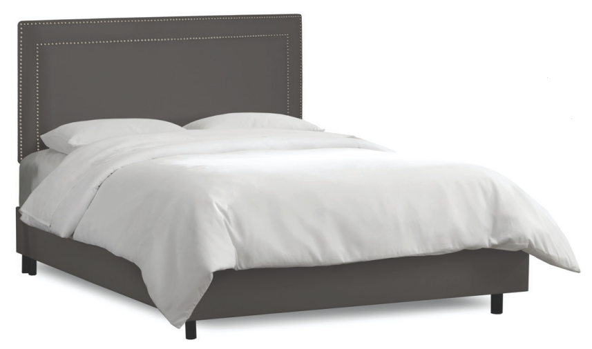 skyline furniture kimball square nail head studded bed